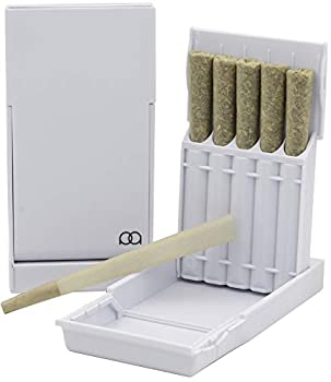JPAQ Ultra-Sleek Joint Holder w/Gasket Seal and Roach Coach Strong and Sturdy Blunt Holder Doob Tube and Cigarette Case Holds 5 King Size Prerolls Portable Compact Convenient Weed Accessories