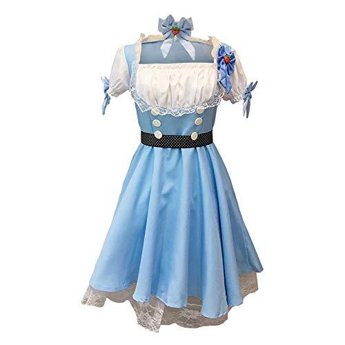 Eaylis Vestido de Princesa Moda Mujer Estilo Extranjero Dibujos Animados Encantador Traje de cosplayBlueS