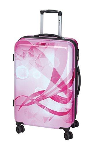 Koffer-Reise-Trolley-Reisekoffer-Hartschale-Erweiterbar-XL-Groß-78-Pink-Bowatex