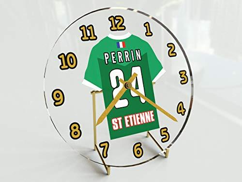 MyShirt123 FRANCIA LIGUE 1 - Orologio da tavolo da calcio francese - qualsiasi nome, qualsiasi numero, qualsiasi squadra - personalizzazione gratuita