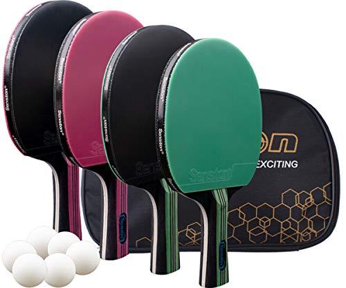 Senston Ping Pong Paddle Set of 4Pro Premium Table Tennis Paddles