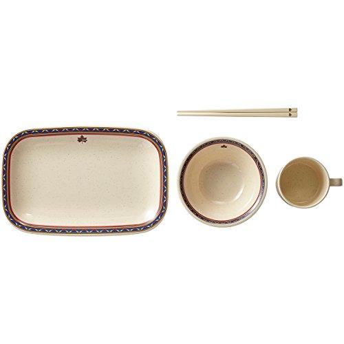 LOGOS(ロゴス)『ナバホパーティー箸付き食器セット4人用』