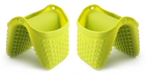 Dexas Silicone Pinch Mitt with Raised Nibs (Green 2 Pack)