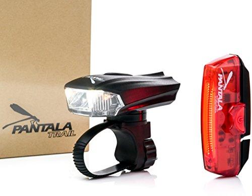 Luces LED Bicicleta USB Recargables - Set Luz de Bicicleta Delantera 400 LM XPG CREE y Trasera 100 LM 30 COB LED - Resistente al Agua - Sensores Inteligentes - Instalación Fácil - Bici de Carretera o Montaña