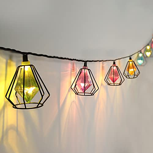 Vigdur Multicolor - Decorative String Light with 10 LED Fairy Bulbs Plug in-Party Lights for Indoor Outdoor Christmas Holiday Wedding Decor