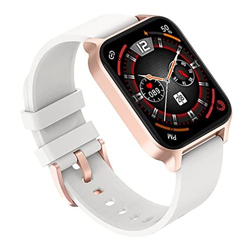 TREWQ Smart Watch, Reloj Inteligente con OxíGeno SanguíNeo PresióN Arterial Frecuencia CardíAca, Monitor De SueñO, Pulsera Actividad Impermeable Ip67 para Hombre Mujer para iOS Android,Blanco