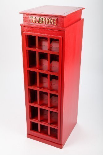 point home Weinschrank, Getränkeregal Telephone, Retro, rot, 96cm