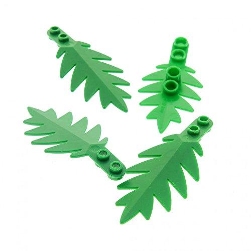 4 x Lego System Pflanze grün 10 x 5 Palme Wedel groß Blatt Strauch Busch Blätter Insel Piraten 6278 6282 6338 2518