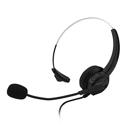 Bezprzewodowy zestaw słuchawkowy Call Center, uniwersalny regulowany redukcja szumów 2,5 mm podwójne słuchawki telefoniczne centrum połączeń telefonicznych do biura, kierowcy samochodu, obsługi klienta