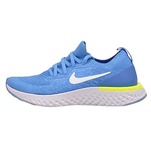 Nike für Kinder Epic Reagieren Flyknit (GS), Blau Leuchtende/White-Photo Blau - Blau Leuchtende/White-Photo Blau, 6 UK