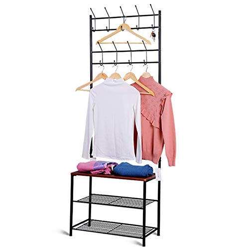 Madeinely Perchero portátil para ropa, perchero de ropa, perchero para ropa, zapatero o sombrero, estante para pasillo