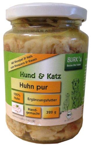 Burk's Huhn Pur Bio Hunde und Katzenfutter, 6er Pack (6 x 320 g)