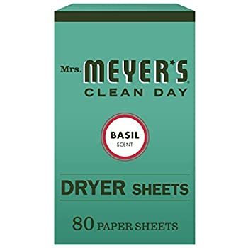 Mrs Meyer s Clean Day Dryer Sheets Softens Fabric Reduces Static Cruelty Free Formula Basil Scent 80 Count