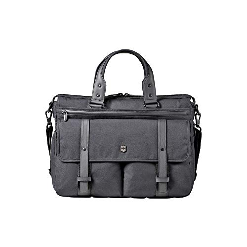 Victorinox Architecture Urban Brunswick Laptop Briefcase, Black, 12.6-inch