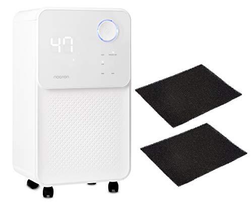Luftentfeuchter und Luftreiniger Noaton DF 4114 + 2x Kohlefilter C2, max. 13,5 L/Tag, für Räume bis 25m²