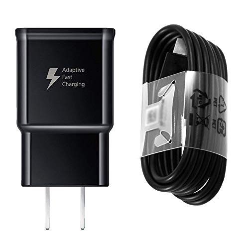 Adaptive Fast Charger Compatible Samsung Galaxy S9 S9 Plus S8 S8+ S10 S10e Note 8 Note 9, Wall Charger Adapter Block with USB Type C Cable Kit