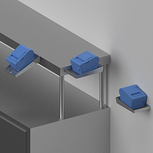 Printer Tray (Stainless Steel) - Mounts on Shelf Edge or Wall PQS PN 50313-SS