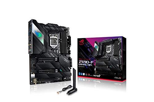 ASUS ROG Strix Z590-F Gaming WiFi Mainboard Sockel Intel LGA 1200 (Intel Z590, ATX, 4x M.2, PCIe 4.0, USB 3.2 Gen 2x2, WiFi6, Aura Sync)