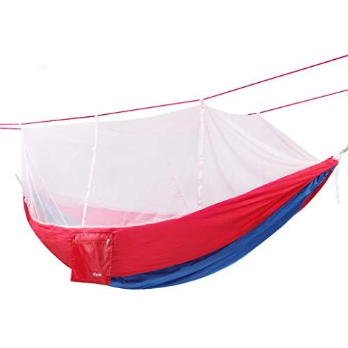 CAMPING en Plein air avec Compte moustiques extérieur hamac élargi Simple Double Parachute Tissu Moustiquaire Net intérieur Swing 260 × 140 cm (Couleur : C)