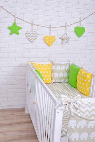 Baby Bettwäsche Design34 Nestchen Bettset 100x135 für Babybett Decke Kissen Bettumrandung