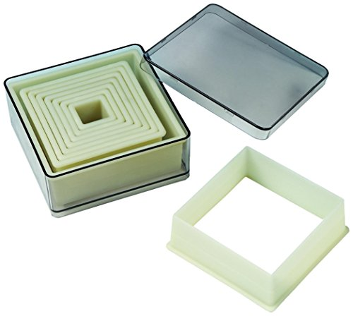 Fat Daddio's CKC-2051 Pastry Cutter, 15, 25, 35, 45, 55, 65, 75, 85, 95 mm, Off-white