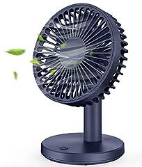 Ventilateur USB MOSOTECH, 3 vitesses, 7 ventilateurs de ventilation Conception, Ventilateur de table très silencieux pour chambre à coucher, maison, bureau, et à l'extérieur - Bleu
