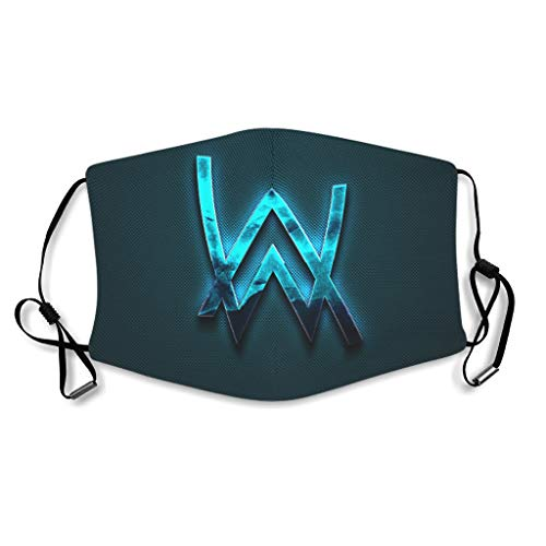 WJunglezhuang dj alan walker blue creative logo Face Shield 3D Fashion Für Radfahren/Reisen white onesize