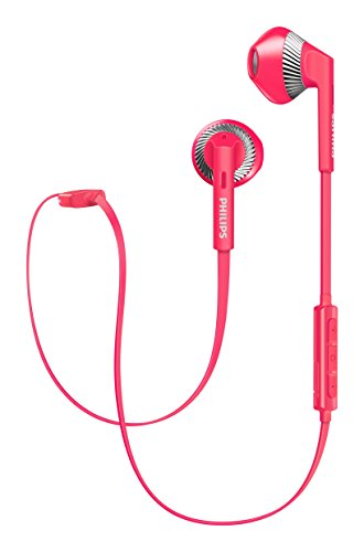 Philips SHB 5250PK In-Ear Bluetooth Kopfhörer mit Mikrofon (Earbud, 4.5 Stunden Akku) pink