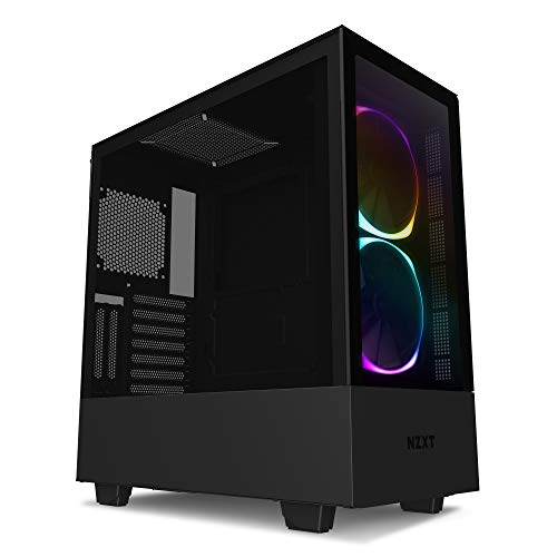 NZXT H510 Elite - Premium Mid-Tower ATX Case PC Gaming Case - Dual-Tempered Glass Panel - Front I/O USB Type-C Port - Vertical GPU Mount - Integrated RGB Lighting - Water-Cooling Ready - Black