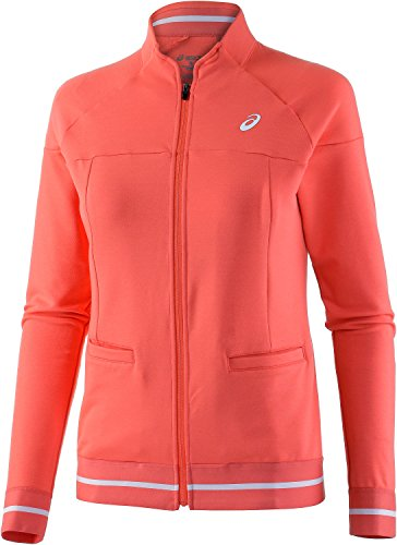 Asics Damen Club Trainingsjacke, Coralicious, XS, 122774