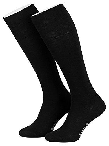 Cuatro pares de calcetines de ejecutivo largos - Negro - 39-42