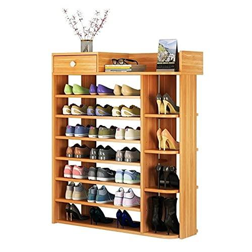 Gabinete de zapatero 7capas,estante de madera sólida armario zapatero,zapateros modernos recibidores de entrada,simple zapateros de pasillo,zapatero ahorro de espacio de gran capacidad,102cm ancho