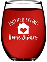 ✅ INEXPENSIVE GIFT IDEAS - The perfect housewarming gift for first home! Each wine tumbler comes packaged in its own individual white gift box ready to be gift wrapped ✅ 15 OUNCES - Each new homeowners wine glass has 15 oz capacity and is dishwasher ...
