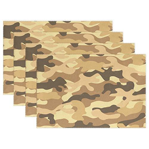 Camuflaje Camo Army Mantel Individual Mantel Individual De Mesa De Poliéster De 12 'X 18' Tapetes De Cocina Resistentes Al Calor para La Decoración del Hogar De Mesa