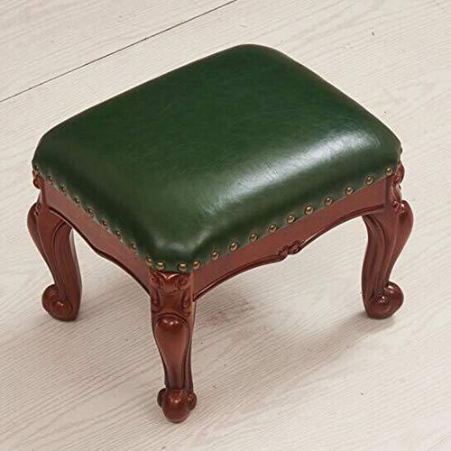 XUERUI Kruk, voetenbankje, voetenbankje, PU-leer, comfortabel, sponsbank, zitkruk, salontafel, hal, schoenenstoel, modern, multifunctioneel