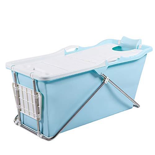 Qshape Folding Klapp Badewanne Erwachsener Körper Eimer Badefass Erwachsener Haushalt Kunststoff Tragbaren Baby-Pool Mit Einem Abnehmbaren Rutschfesten Badehocker aufblasbare Badewanne
