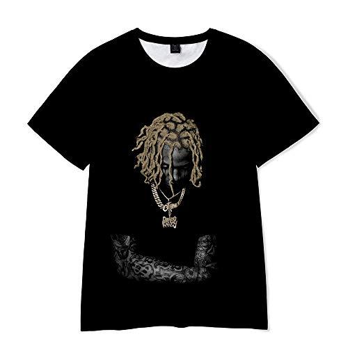 WkOkYkWk Rapper Lil Durk Shirt OTF Unisex 3D T-Shirt for Men Women Teen M