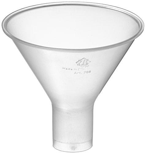 neoLab E-1661 - Embudo de polvo (polipropileno, 80 mm de diámetro, mango de 22 mm de diámetro)