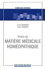 Précis de matière médicale homéopathique de Léon Vannier