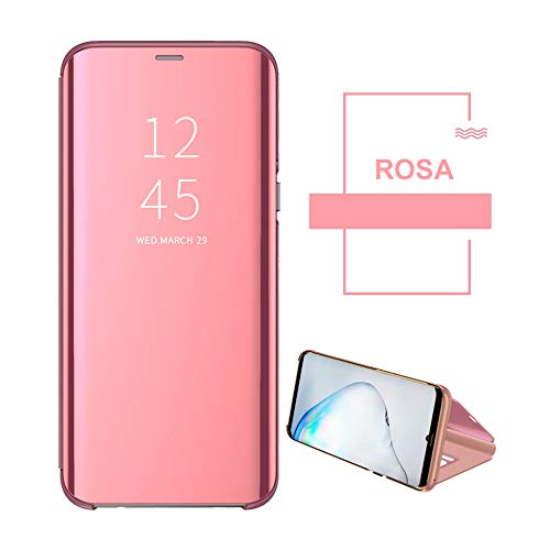 Kompatibel mit Huawei P20 Hülle, Clear View Protective Standing Cover Huawei P20 Handyhülle Flip Cover Spiegel Schutzhülle für Huawei P20 Handyhülle (1) - 3