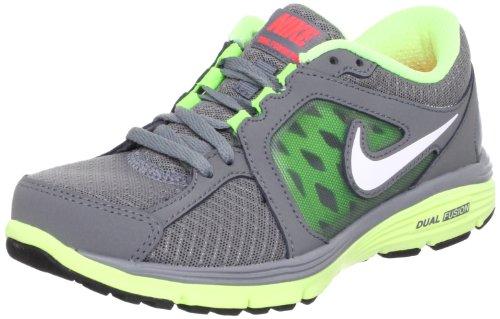 Nike Dual fusion run - Zapatillas de Running de Piel Mujer, gris (Gris, blanc et vert d'eau), 37.5 EU