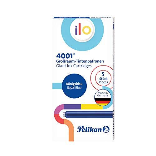 Pelikan 301497 4001 Ilo - Cartuchos de tinta (5 unidades, en caja plegable), color azul real