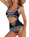 UNibelle Women Tribal Swimsuit African Dashiki Bathing Suits One Piece Swimwear