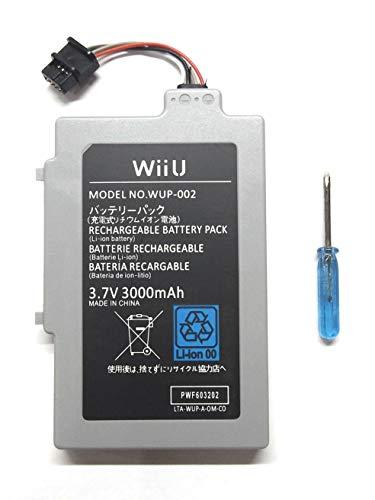Bateria + Destornillador de Desmontaje para Mando Nintendo Wii U Modelo WUP-002 3000 mAh 3.7V Li-Ion Gamepad