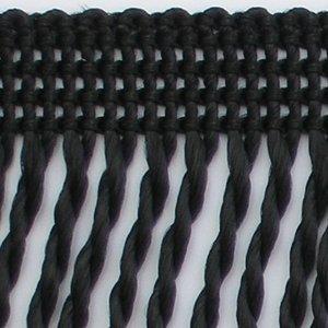 12cm Fransen gedreht 5m Rolle (1,84 Eur/m) Möbelfransen Stengelfransen (schwarz)