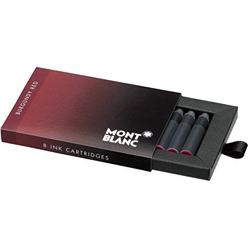 Montblanc Ink Cartridges Burgundy Red 105199 – Short International Standard Fountain Pen Refills in Dark Red – 8 Pen Cartridges