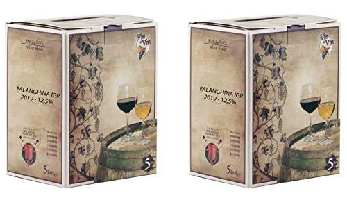 Confezione 2 Bag in Box da 5 L VINO FALANGHINA IGP IGT bianco CAMPANIA 12,5% Sfuso da Azienda Agricola
