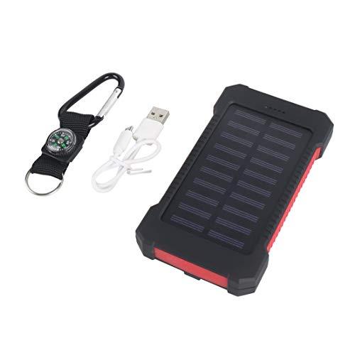 BiaBai Cargador solar universal 300000mAh Cargador externo USB dual Batería Banco de energía Alta capacidad de larga duración para exteriores