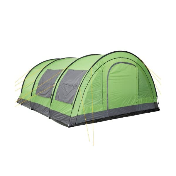 CampFeuer® - XXL Tunnel Tent, 6 Person, Green/Grey, 5000 mm