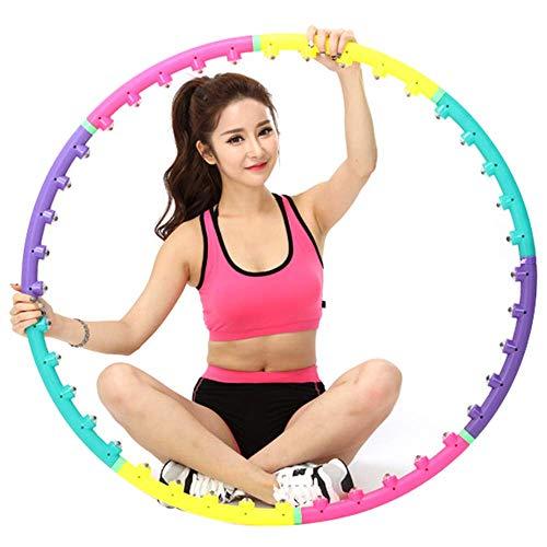 JINQI Diametro 98 Cm Fitness per Adulti Hula Hoop Yoga Cerchio Magnetico 8 Segmenti Anello da Ginnastica Rimovibile per Principianti Attrezzatura per Esercizi di Giunzione Dimagrante